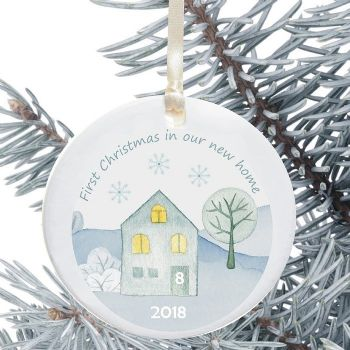 First Christmas in a New Home Keepsake Decoration - Winter House Design